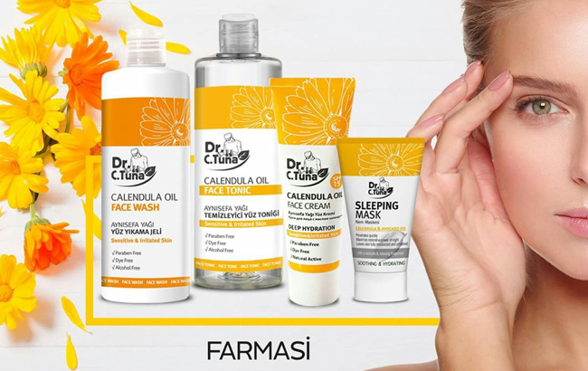 Cosmetice cu gălbenele Farmasi