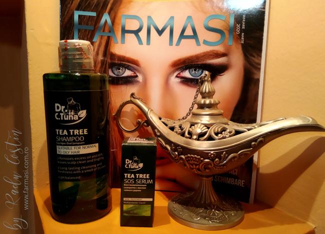 Şampon cu extract de arbore de ceai Farmasi