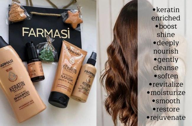 Set Şampon Farmasi cu keratină